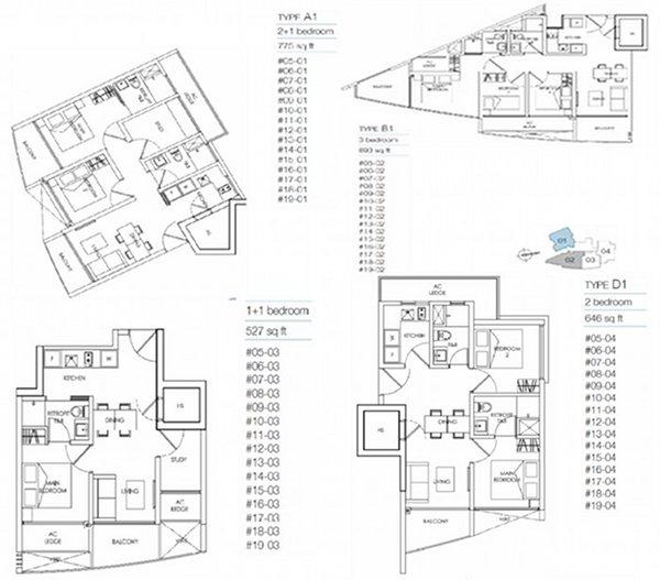 8M Residences floorplans