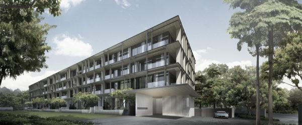 cluny park residences facade