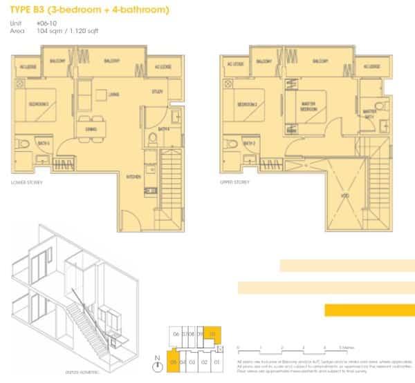 Hotline 65 6100 3515 Park 1 Suites 3br Floor Plans Park 1