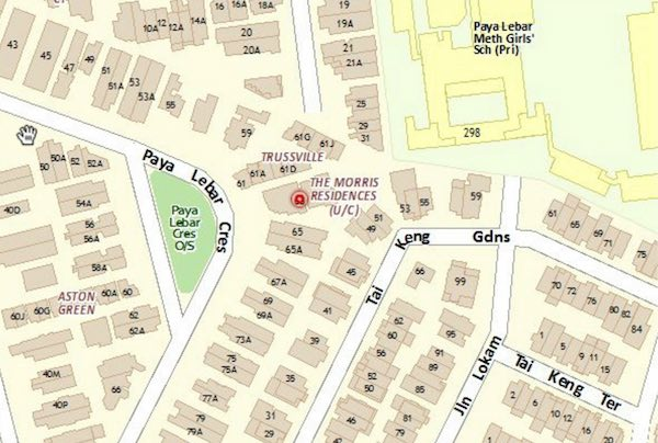 Morris Residences Location Map