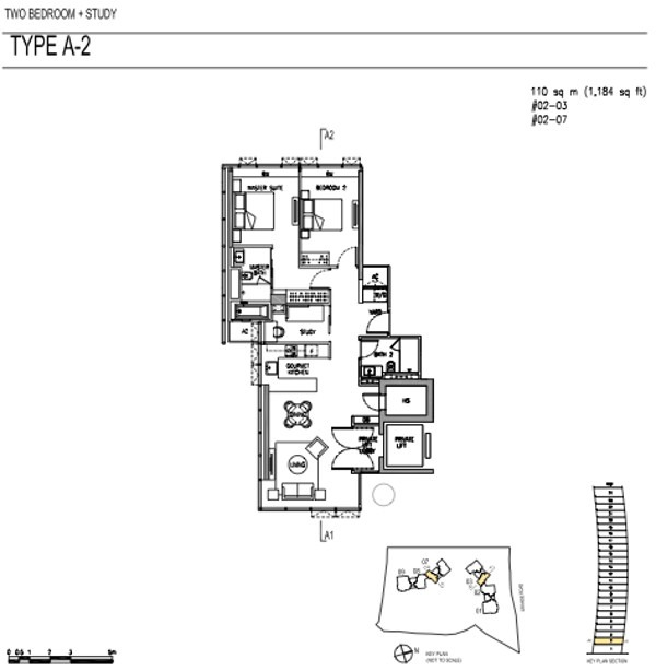 Cramercy park 2 bedrooms plus study floor plans