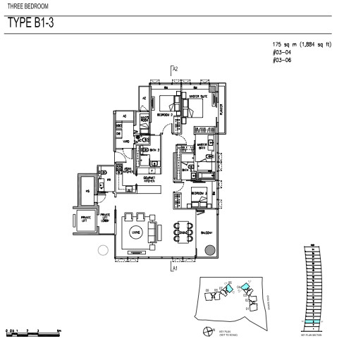 Cramercy park 3 bedrooms floor plans