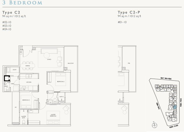 robin residences 3br floor plans