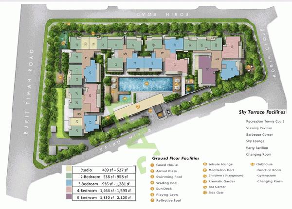 robin residences site plan
