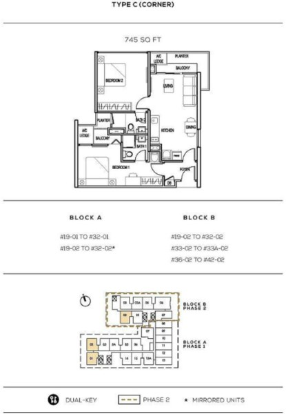 the-colony-kl-infinitum 2br floor plans