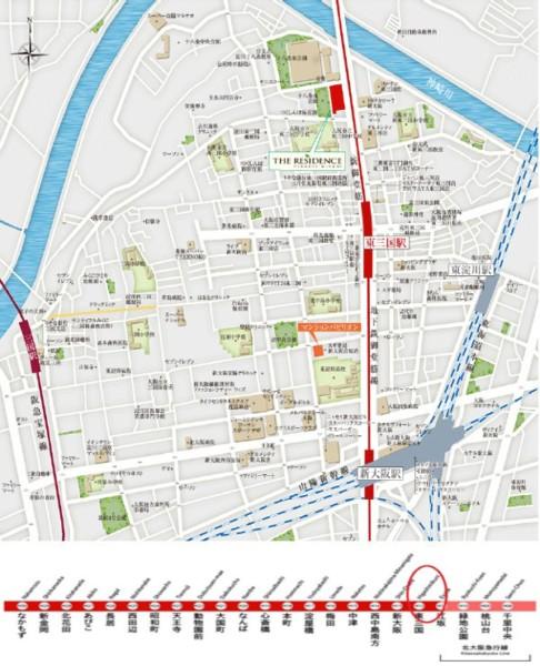 the residences Higashi-Mikuni location