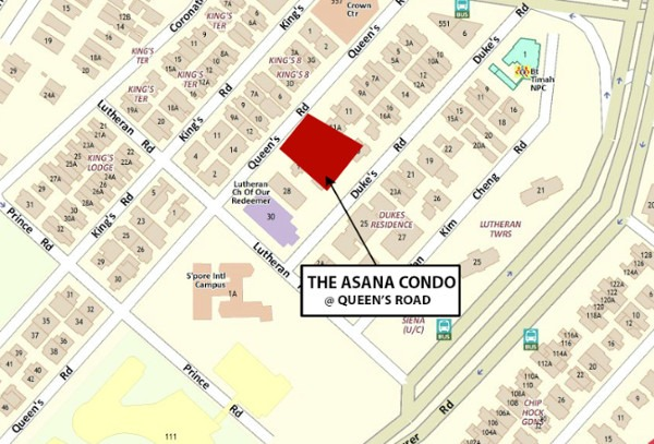 The Asana condo location