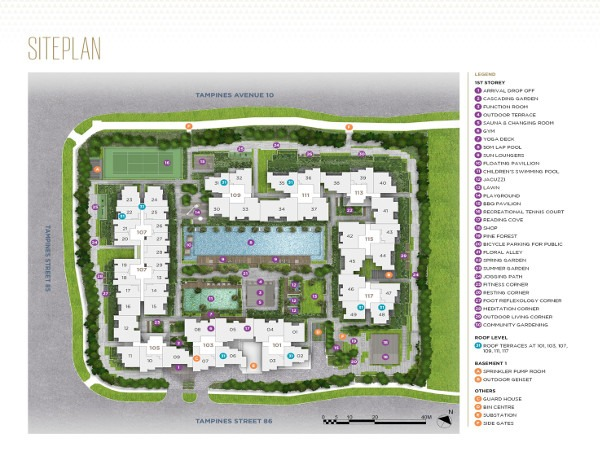 The Alps Residences Siteplan