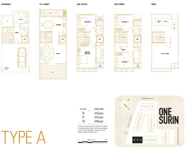 one-surin-floor plans