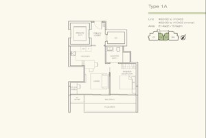 Floor Plans one bedroom Three Balmoral