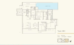 Floor Plan three bedroom Three Balmoral